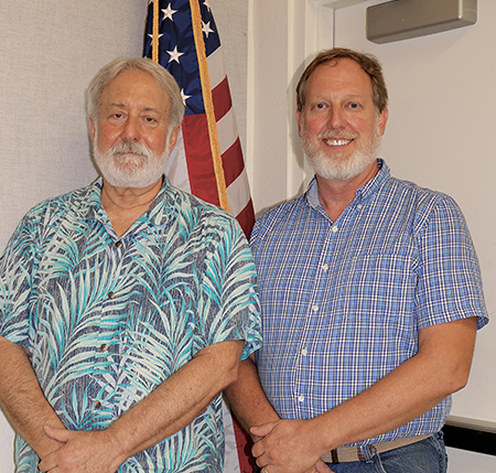 Supervisors John Jones (left and Michael Howard (right)